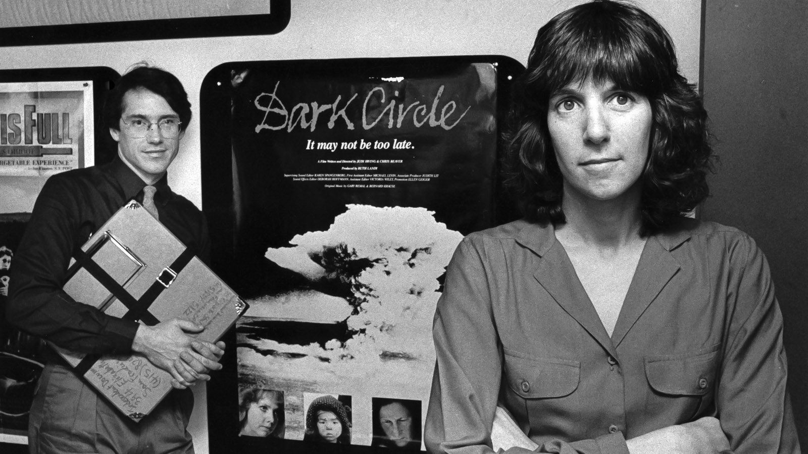 Dark Circle co-directors Chris Beaver and Judy Irving in 1982. Photo by Karen Spangenberg.