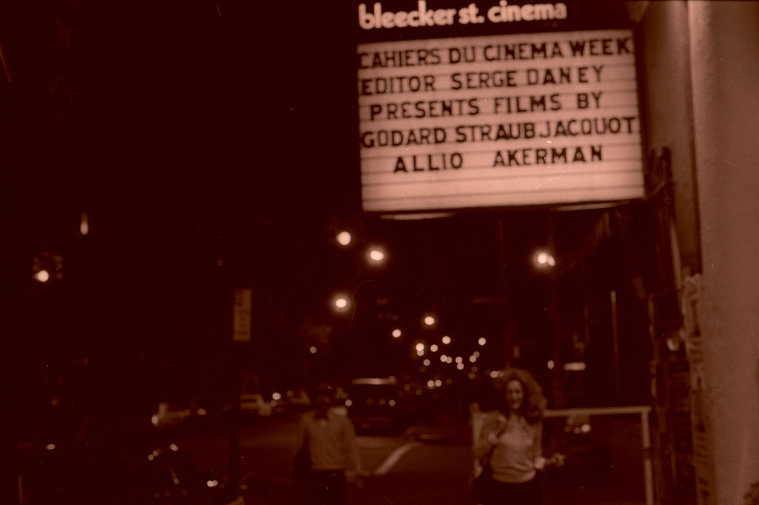 Jackie Raynal Bleecker St. Cinema Sereg Daney